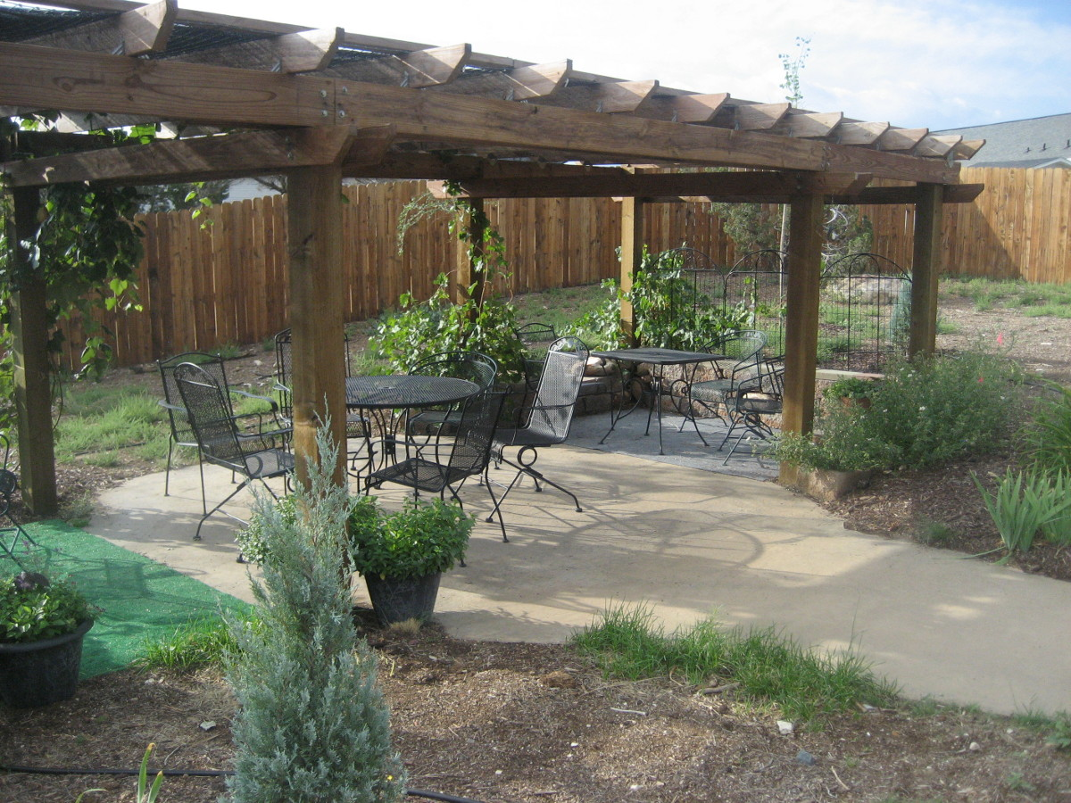 This Is A Closer View Of The Garden Arbor
